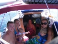 Woody and family sailing Flathead Lake