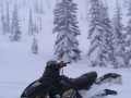 Woody's Snowmobile in the Yaak