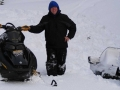 Woody snowmobiling in the Yaak
