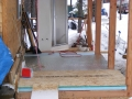 Laying the floor for the extension