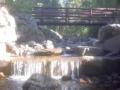 Waterfall under a bridge in the Yaak