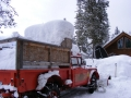 Woody's fire equipment in the harsh Yaak winter