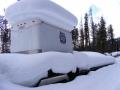 Woody's fire equipment in the harsh Yaak winter