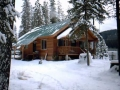 Woody's cabin in the winter