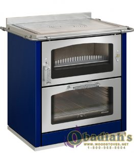 De Manincor Domino 8 Maxi Wood Cookstove - Blue - Cookstove Community