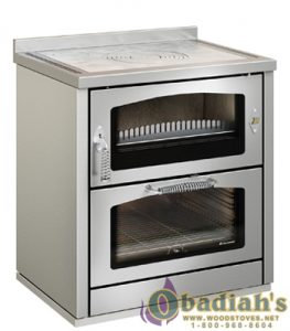 De Manincor Domino 8 Maxi Wood Cookstove - Stainless Steel - Cookstove Community