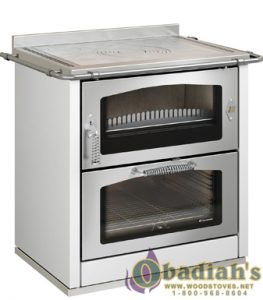 De Manincor Domino 8 Maxi Wood Cookstove - White - Cookstove Community