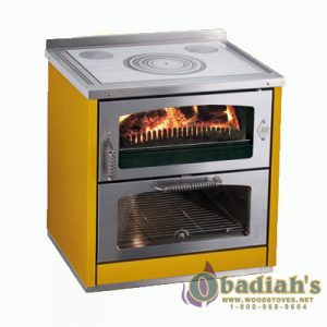 De Manincor Domino 8 Maxi Wood Cookstove - Yellow - Cookstove Community