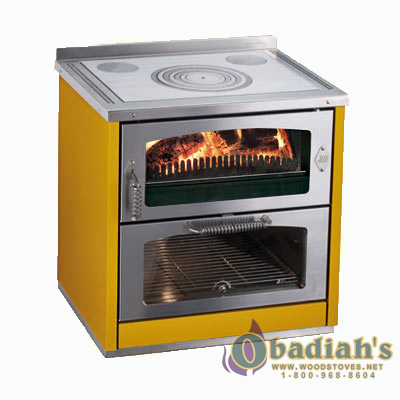 De Manincor Domino 8 Maxi Wood Cookstove – Yellow – Cookstove Community