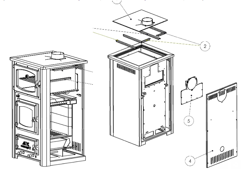 Sopka Concept 2 Air Mini Wood Cookstove - Cross Section - Cookstove Community