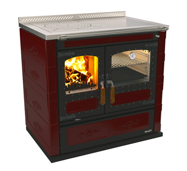 Rizzoli L90 Wood Cookstove – Burgundy