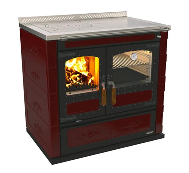 Rizzoli L90 Wood Cookstove – Burgundy