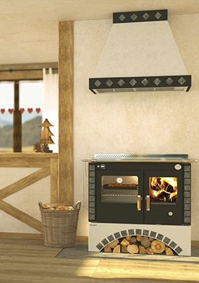 Rizzoli S90 Round Arch Wood Cookstove