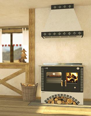 Rizzoli S90 Round Arch Wood Cookstove